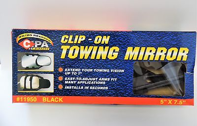 CIPA 11950 Universal Clip-On Towing Mirror