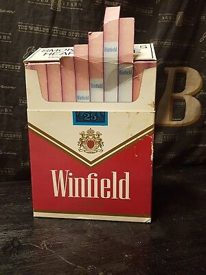 Winfield Red Large Cigarette Packet shop advertising. Tobacco ad. Collectable