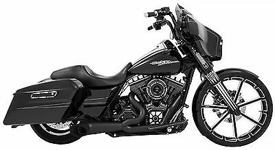 Freedom Performance Turn Out Exhaust In Pitch Black For Harley 2017-2018 M8
