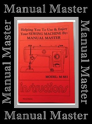 Models M 881 Jones Brother sewing machine instruction Manual Booklet