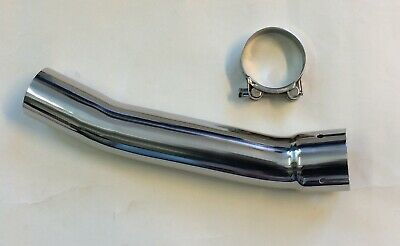 Viper Stainless Steel Exhaust Link Pipe to fit Suzuki SV650 99-02 for 50mm Can
