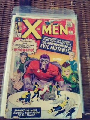 X-MEN #4 Marvel with MAGNETO and BROTHERHOOD of EVIL MUTANTS Ungraded Silver Age