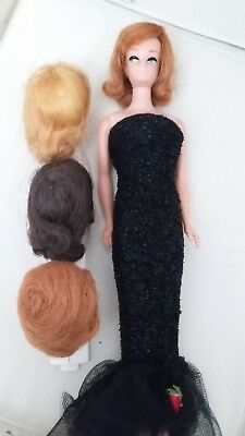 Vintage Barbie Fashion Queen Doll with Wigs/Stand