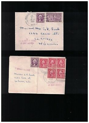 Lot Of 6 - 1930s Personal Correspondence From Child At Trout Lake WI to Parents