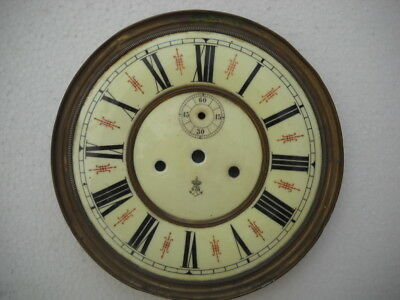 A Good Gustav Becker Vienna Wall Clock Dial.