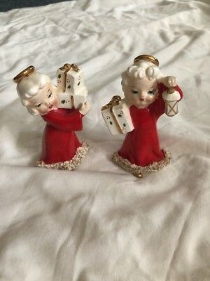 Vintage Pair Fine A Quality Japan Angels With Packages Spaghetti Bottoms
