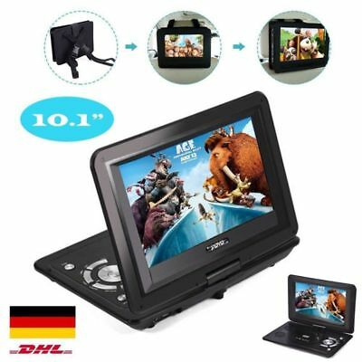 "10.1"" Tragbarer DVD Player Schwarz 270° portable Auto Kopfstütze USB/MP3/SD/Game"