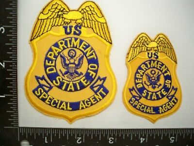 Federal State Dept HQs DSS Seal 2 Patch Set Washington, DC Police Dignitary Prot