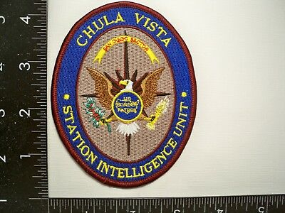 Federal Border Protection Chula Vista, CA Police Intel Patch USBP San Diego Sect