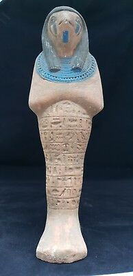 ANCIENT EGYPTIAN ANTIQUE GOD HORUS LARGE USHABTI LUXOR STONE History of Egypt