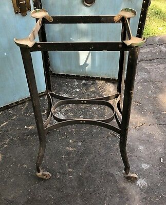 Antique Toledo Uhl Industrial Table Stand Original Typewriter Base Vintage