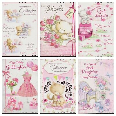 Goddaughter 1st Birthday Card 334 Picclick Uk