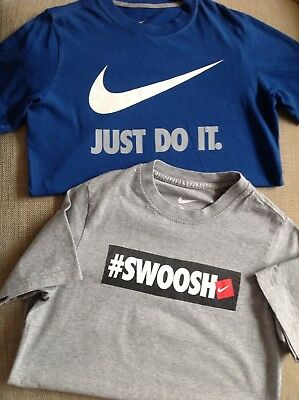 Nike boys t-shirts ( set of two,  age 8-10yrs S )