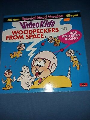 Vinyl Schallplatte, Maxi-Single, Video Kids - Woodpecker from space, 1984