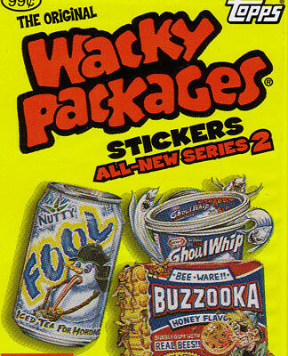 Wacky Packages~2005 Ans 2 ~ New Series 2 - Full Set Of 55/55 Sticker Cards Look!