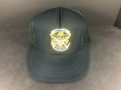 POLICE VANCOUVER WASHINGTON AWESOME VINTAGE Snapback Truckers Cap Hat!