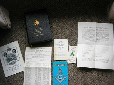 Freemason Masonic Lodge Masonry Book Booklet Lot 1968 Bible John Wesley Kelchner