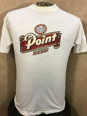 Vintage 80's Stevens Point Brewery Special Beer Shirt Wisconsin Mens Large S/S