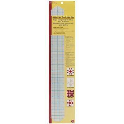 """Dritz Quilting See-Through Drafting Ruler 2""""X18"""" -3300"""