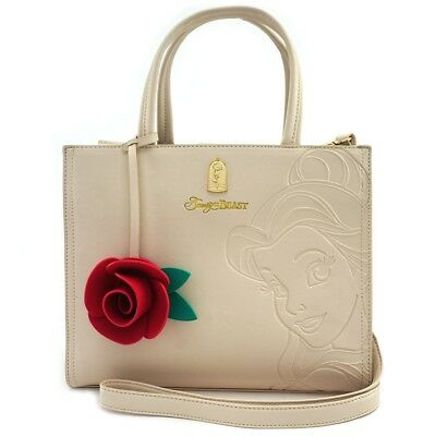 Loungefly ~ Disney ~ Beauty and the Beast Belle Embossed Tote Bag Purse WDTB1119