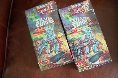 The Silver Surfer 1992 Galaxy Prism Cards Lot of 2 Factory Sealed Wax Box