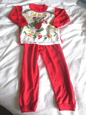 Vintage  Mothercare  clown red pyjamas  90 cm height