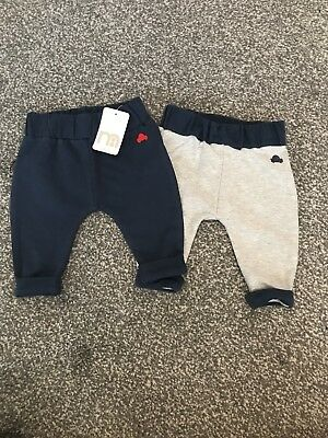 Mothercare New With Tags 2 Pack Jogging Bottoms Up To 1 Month