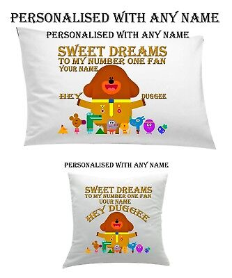 #Hey Duggee #Personalised #Pillow Case #Cushion, Cover, Protector, Bedding  Gift