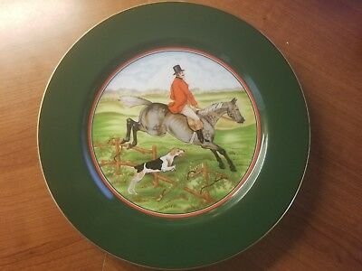 """Fitz & Floyd """"Tallyho"""" Salad or Dessert Plate No. 3 -- MINT and never used."""