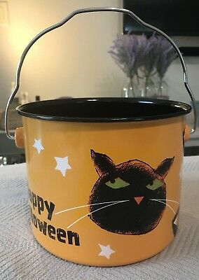 Happy Halloween! Vintage JOL, BLACK CAT, & CANDY CORN PAIL by Cheryl&Co bucket