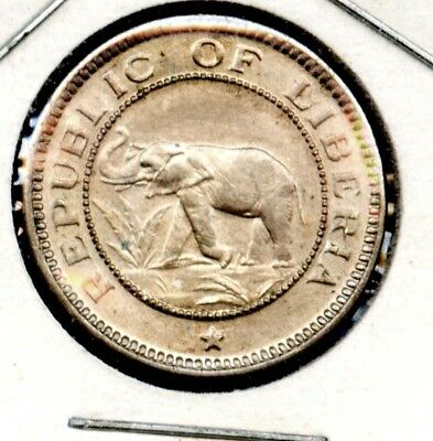 Liberia. 1/2 Cent, 1941. Elephant.bu Unc. Free S/h. U.s Others Add $1.00