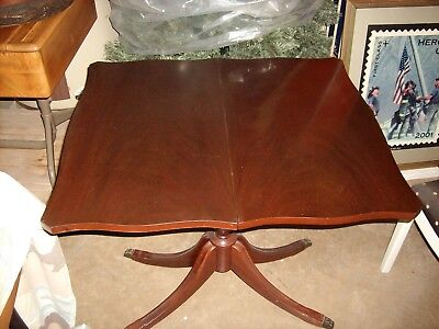 antique mahogany flip top game table