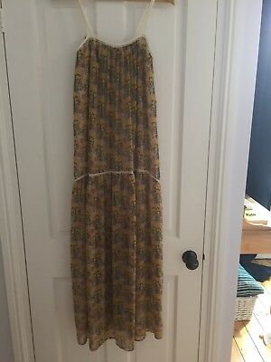 Zara Yellow Floral Maxi Dress Size S Uk 8 Sold Out Bloggers Favourite