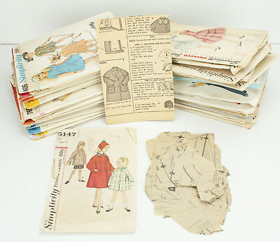 Vintage Simplicity Sewing Patterns Lot Girls Clothing 50s 60s 70s 80s - SZ 1-16