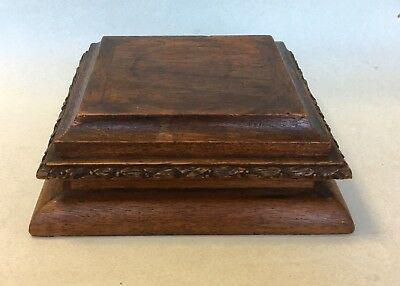 large ANTIQUE WOODEN PLINTH display stand sculpture figure vintage taxidermy