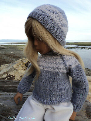 """""""Sea Breeze"""" Hand- Knitted Outfit for Sasha/Gregor Doll by """"The Spin I""""m In."""""""