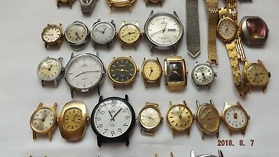 Job Lot 56 Mens And Ladies Watches For Spares Or Repair