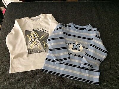 2 X Mitch & Son l/s Tops  Age 18 Months