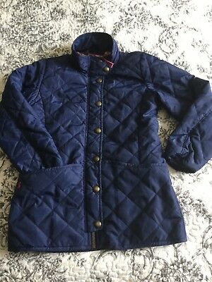 Joules Girls Navy Quilted Jacket Age 9 10 Years 410