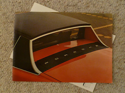 1975 Porsche 914 DELUXE Showroom Advertising Sales Brochure RARE!! Awesome L@@K