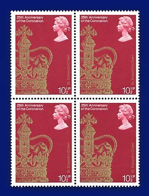 1978 SG1060 10½p 25th Anniv of Coronation Block (4) MNH Unmounted Mint aopr