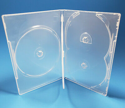 NEW! 1 Premium 5-Disc DVD Case 14mm Clear - Holds 5 discs - Five
