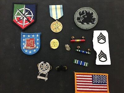Army Patches Ribbons And Medal Lot
