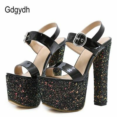 Gdgydh Sexy Bling Women Sandals Platform New Summer Females Extreme High Heels P