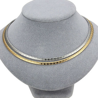 316L Stainless Steel Silver/Gold Collar Choker Bib Women Chain Fashion Necklaces