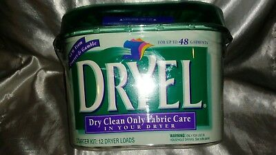 Dryel Dry Clean Only Fabric Care Starter Kit 48 Garments / 12 Dryer Loads *rare*