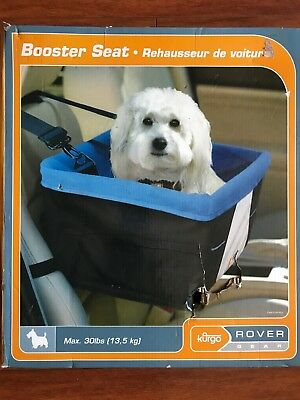 Kurgo Rover Gear Booster Seat Blue & Black For Dogs Up To 30 Lbs