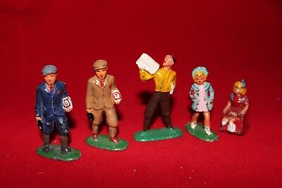 "Five Barclay ""Dimestore"" Children, Scarce.  Free Shipping!"