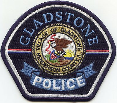 GLADSTONE ILLINOIS IL Henderson County POLICE PATCH