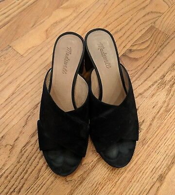 Madewell Greer Black Mule Sandals Slides Sz 9.5